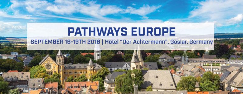 "Pathways Europe September 16-19th 2018 hotel ""Der Achtermann"", Goslar, Germany"