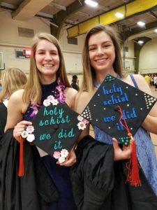 photo of Geosciences students at graduation ceremony