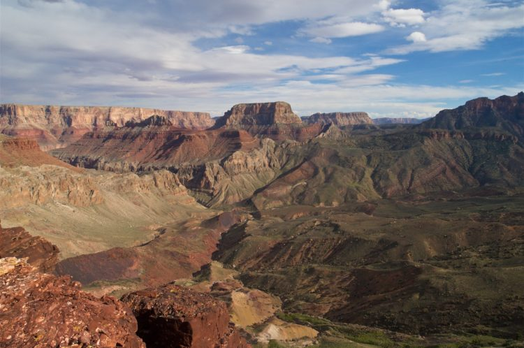 View toward Kwagunt Creek from Nankoweap Butte in Grand Canyon National Park, AZ, USA