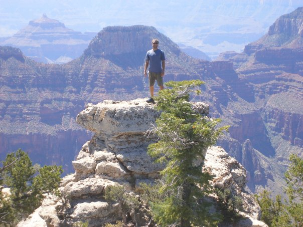 Christopher Herron standing in the Grand Canyon