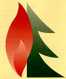 WESTfire tree and fire logo
