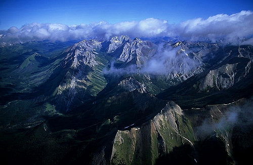 Arial photo of Mackenzie Mountians