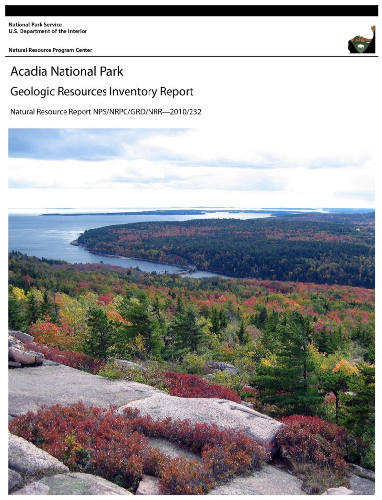 GRI Report cover for Acadia National Park
