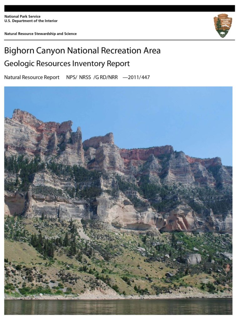 GRI Report cover for Bighorn Cayon national Recreation Area