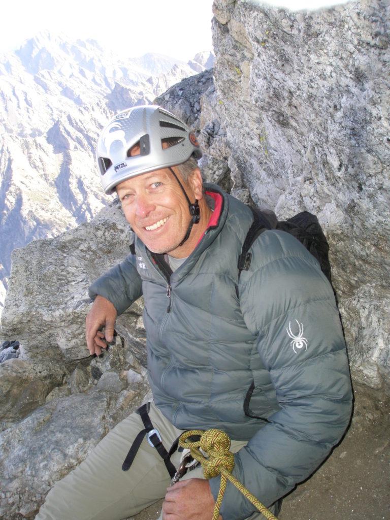 Mark Gasta climbing