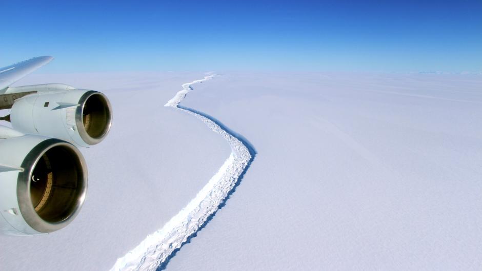 cracked ice in Larsen C Ice Shelf - Antarctica