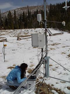 weather station and snow