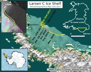 Map of Larsen Ice Shelf