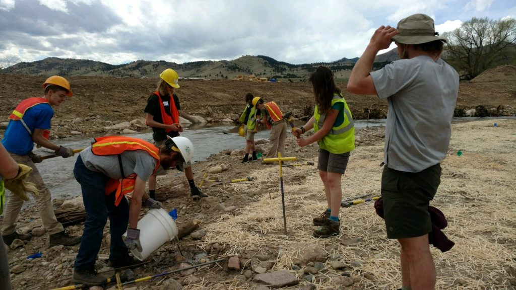Fly Fishing Club helping with stream restoration project